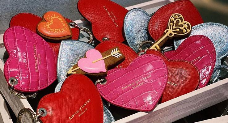 Aspinal of London Heart Keyrings
