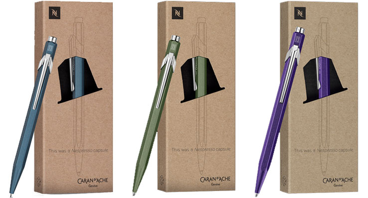 Caran d'Ache x Nespresso Limited Edition 849 Ballpoint Pens