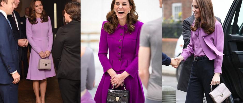 Kate Middleton with her Aspinal of London Mayfair handbag