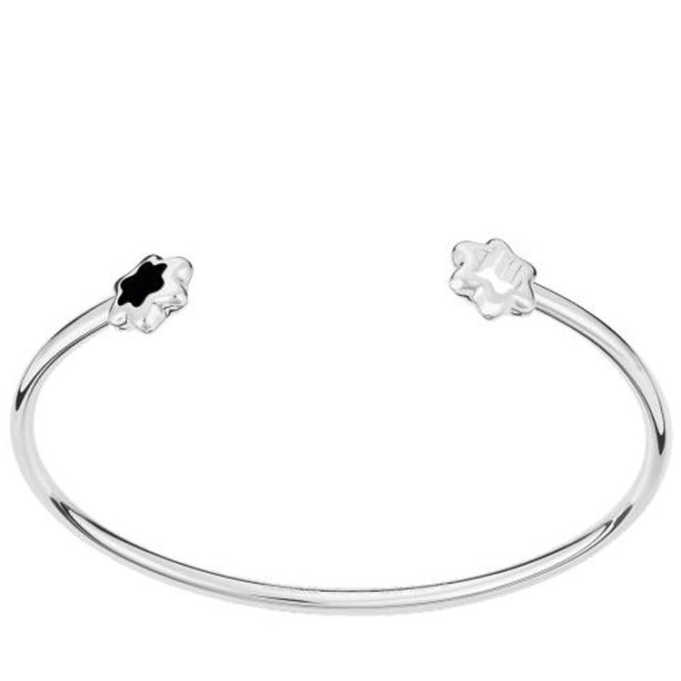 Montblanc Ladies 4810 Classic Silver Open Bangle with Snowcaps