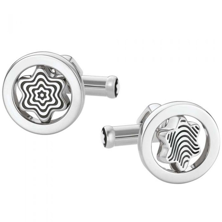 Montblanc Iconic Stainless Steel Swivelling Emblem Cufflinks