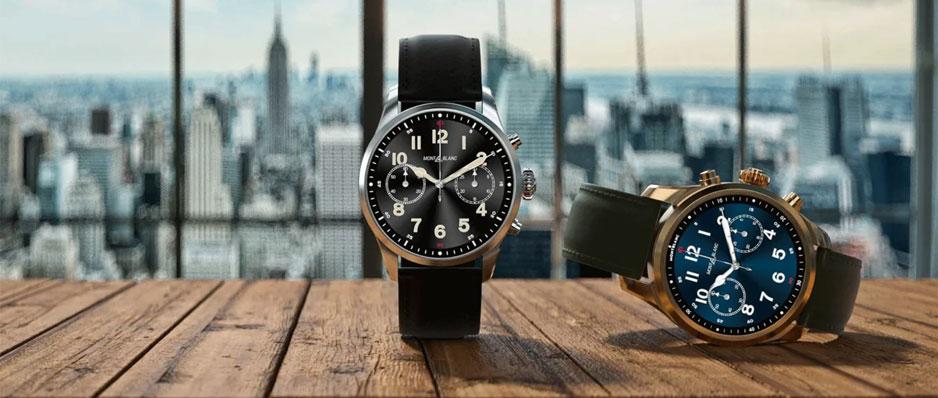 Montblanc Black & Khaki Smartwatches