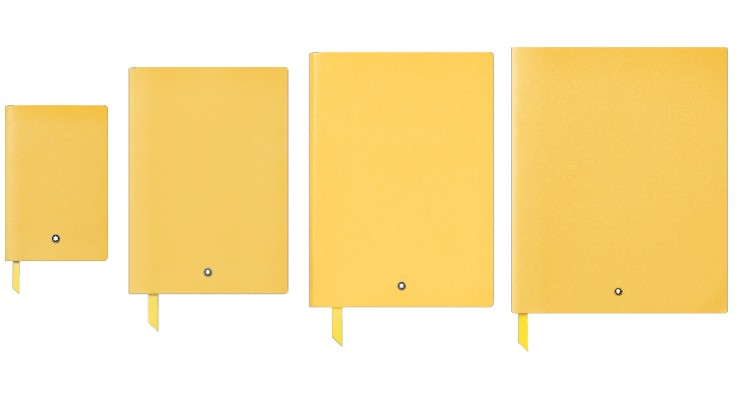 Montblanc Colour of the Year Fine Stationery Mustard Yellow Notebooks