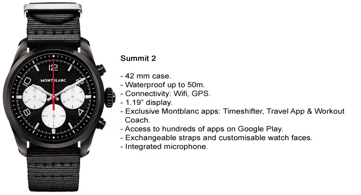Montblanc Summit 2 Specifications