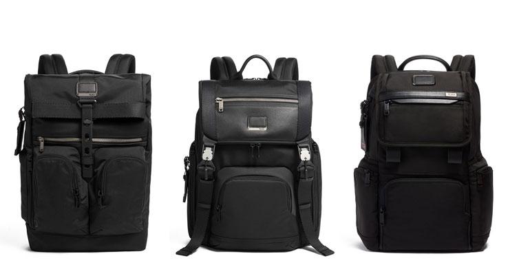 TUMI Black Backpacks
