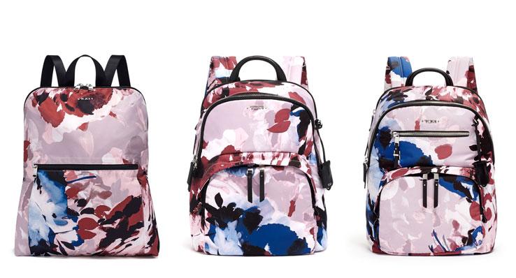 TUMI Blush Floral Voyageur Backpacks