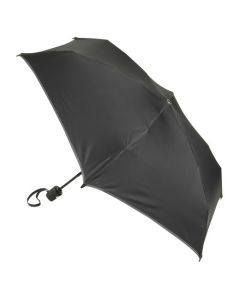 Small black auto close umbrella by TUMI.
