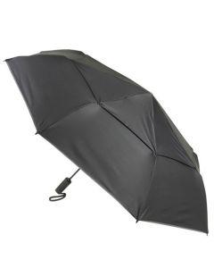 Large black auto close umbrella by TUMI.