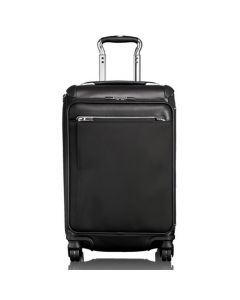 TUMI Arrivé black nylon gatwick international expandable carry-on case.