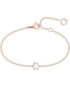 Full view of Montblanc Souvenir d'Etoiles pink gold bracelet.