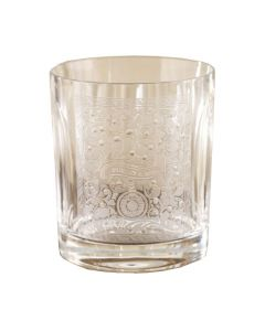 The Purdey London crystal glass engraved whisky tumbler.