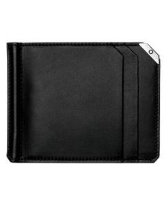 Montblanc Urban Spirit black leather wallet with money clip.