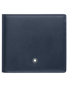 Meisterstück Classic Navy 4CC Wallet with Coin Case by Montblanc.