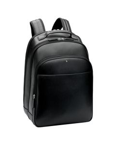 Sartorial black textured leather large backpack by Montblanc.
