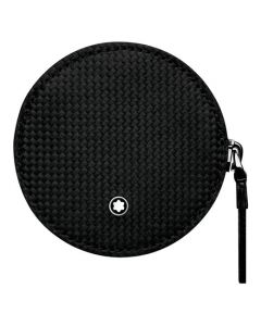 The Montblanc Extreme black round coin case.