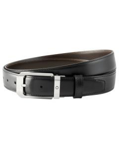 The Montblanc classic line black and brown reversible belt.