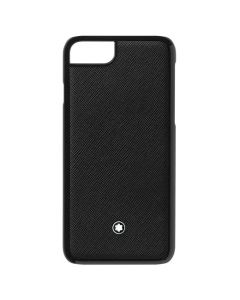 The Montblanc Sartorial saffiano black leather iPhone 8 hard phone case.