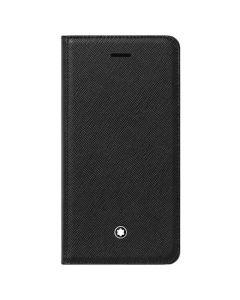 The Montblanc Meisterstück Flipside black saffiano iPhone 8 phone case.