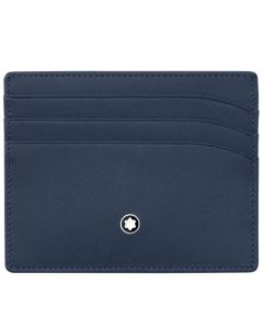 Front view of the Montblanc navy Meisterstück card holder.