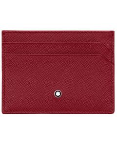 Montblanc Sartorial red leather card holder with space for up to 5 cards.