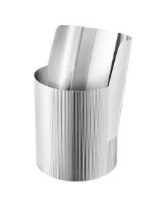 The Georg Jensen stainless steel large vase.