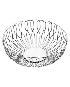 This is the Georg Jensen Stainless Steel Small Alfredo Bread Basket.