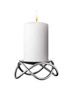 Georg Jensen Glow stainless steel candle holder.