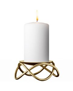 Georg Jensen Glow gold stainless steel candle holder.