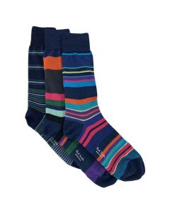 This Paul Smith pack of cotton socks come with three pairs of striped socks.