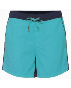 Hugo Boss Snapper swim shorts in blue full view.