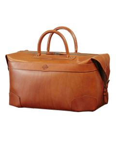 The Purdey London tan smooth leather 48 hour holdall.