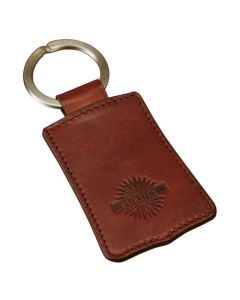 The Purdey London brown smooth leather action keyring.