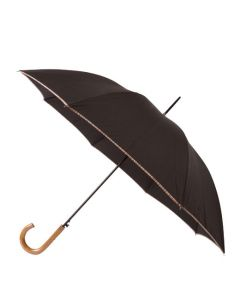 This Paul Smith umbrella comes with a light brown wooden handle.