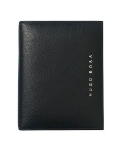 The Hugo Boss A6 Basis folder in soft textured leather.