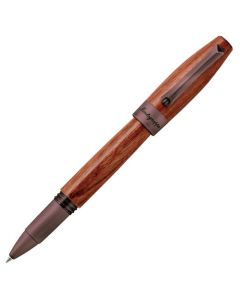 Montegrappa Heartwood pear wood rollerball pen.