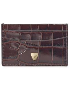 This is the Aspinal of London Amazon Brown 4CC Mock Croc Slim Card Holder.