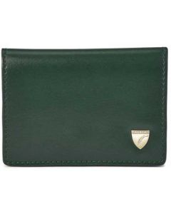 Accordion Evergreen & Peony Smooth Card Holder with Zip