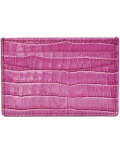 This is the Aspinal of London Hibiscus Mini Croc 4CC Card Holder.