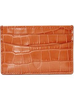 This is the Aspinal of London Marmalade Croc 4CC Card Holder.