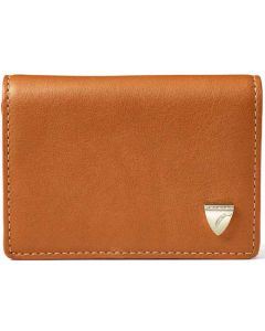 Accordion Smooth Tan Card Holder with Zip