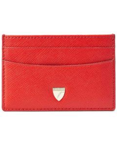 This is the Aspinal of London Scarlet Slim 4CC Carrera Card Holder.