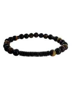 This Hugo Boss bracelet comes with a tiger eye beaded design.