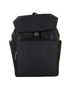 This Hugo Boss black backpack comes with an HB monogram on the front.