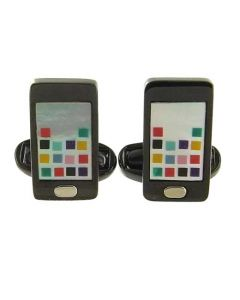 This pair of Paul Smith cufflinks come in the shape of a mobile phone.