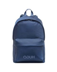 This is the BOSS Blue Reversed-Logo Backpack.