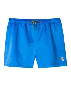 This pair of Paul Smith swim shorts come in a shiny blue colour.