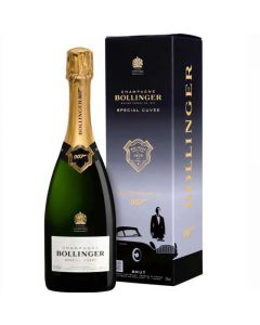 This is the Bollinger 007 No Time to Die Special Cuvée Limited Edition Champagne with the special box.
