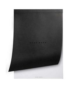 Close view of the Hugo Boss A4 note pad.