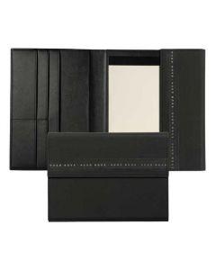 This is the Hugo Boss Ribbon A5 Black Folder.