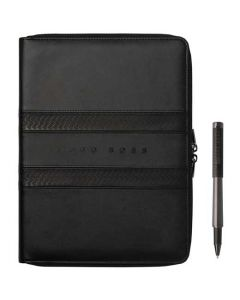 This is the Hugo Boss Black Tire A4 Conference Folder and Rollerball Pen Set.